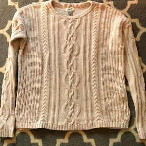 Old Navy Lilac Cable Knit Sweater Sz XL